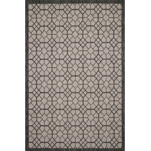 Isle Charcoal Grey Rectangle: 5 Ft. 3 In. x 7 Ft. 7 In. Rug