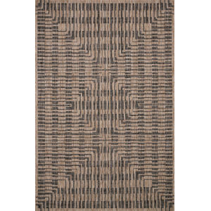 Isle Brown with Black Rectangle: 3 Ft. 11 In. x 5 Ft. 1 Rug