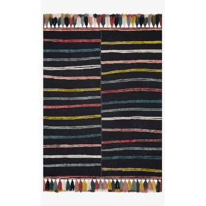 Justina Blakeney Jamila Charcoal Rectangle: 7 Ft. 9 In. x 9 Ft. 9 In. Rug