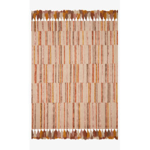 Justina Blakeney Jamila Oatmeal and Santa Fe Spice Rectangle: 5 Ft. x 7 Ft. 6 In. Rug