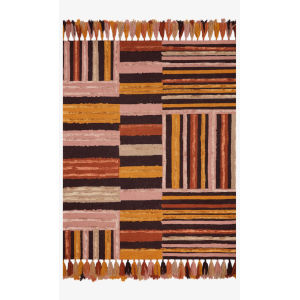 Justina Blakeney Jamila Spice and Bordeaux Rectangle: 3 Ft. 6 In. x 5 Ft. 6 In. Rug