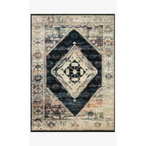 Jasmine Ink and Multicolor Rectangle: 5 Ft. 3 In. x 7 Ft. 8 In. Rug