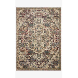 Jasmine Ocean and Multicolor Rectangle: 5 Ft. 3 In. x 7 Ft. 8 In. Rug
