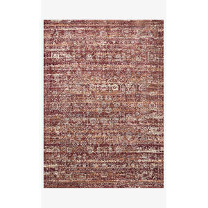 Jasmine Sky and Bordeaux Rectangle: 5 Ft. 3 In. x 7 Ft. 8 In. Rug