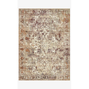 Jasmine Ivory and Multicolor Rectangle: 5 Ft. 3 In. x 7 Ft. 8 In. Rug