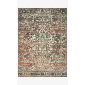 Jasmine Natural and Multicolor Rectangle: 7 Ft. 10 In. x 10 Ft. 10 In. Rug