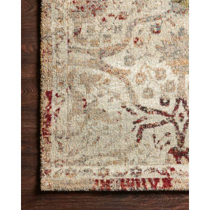 Jasmine Silver and Multicolor Rectangle: 2 Ft. 7 In. x 4 Ft. Rug