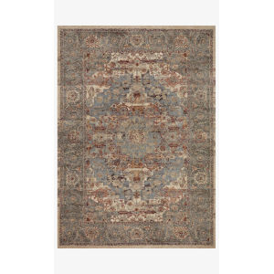 Jasmine Slate and Brick Rectangle: 5 Ft. 3 In. x 7 Ft. 8 In. Rug