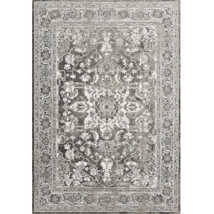 Joaquin Charcoal and Ivory 2 Ft. 7 In. x 8 Ft. Power Loomed Rug