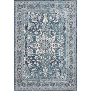 Joaquin Ocean and Ivory 5 Ft. 3 In. x 7 Ft. 8 In. Power Loomed Rug