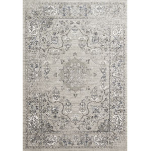 Joaquin Dove and Gray 7 Ft. 10 In. x 10 Ft. 10 In. Power Loomed Rug