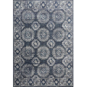 Joaquin Denim and Gray 7 Ft. 10 In. x 10 Ft. 10 In. Power Loomed Rug