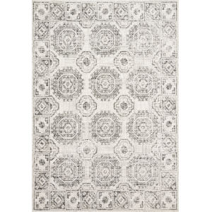Joaquin Ivory and Charcoal 2 Ft. 7 In. x 8 Ft. Power Loomed Rug
