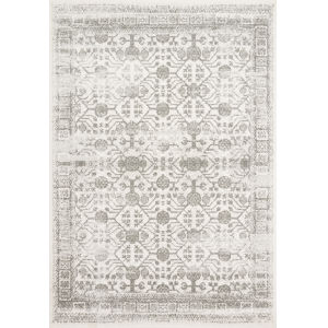 Joaquin Ivory and Gray 6 Ft. 7 In. x 9 Ft. 2 In. Power Loomed Rug