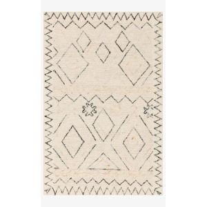 Justina Blakeney Leela Oatmeal and Denim Rectangle: 3 Ft. 6 In. x 5 Ft. 6 In. Rug