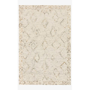 Justina Blakeney Leela Ivory and Lagoon Rectangle: 7 Ft. 9 In. x 9 Ft. 9 In. Rug