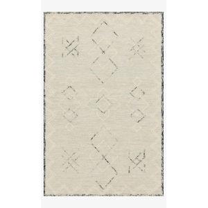 Justina Blakeney Leela Ocean and White Rectangle: 2 Ft. 3 In. x 3 Ft. 9 In. Rug