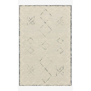 Justina Blakeney Leela Ocean and White Rectangle: 7 Ft. 9 In. x 9 Ft. 9 In. Rug