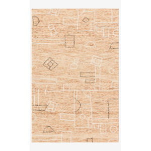 Justina Blakeney Leela Terracotta and Natural Rectangle: 2 Ft. 3 In. x 3 Ft. 9 In. Rug