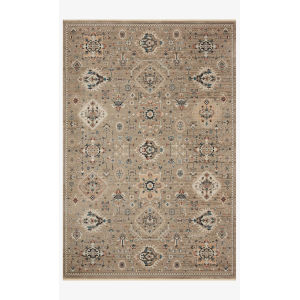 Leigh Dove and Multicolor Rectangle: 6 Ft. 7 In. x 9 Ft. 6 In. Rug