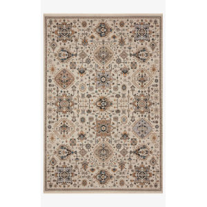 Leigh Ivory and Taupe Rectangle: 5 Ft. 3 In. x 7 Ft. 6 In. Rug