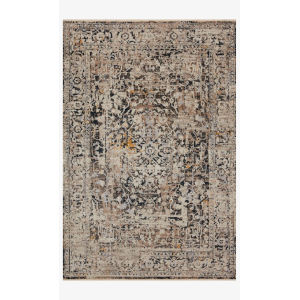 Leigh Charcoal and Taupe Runner: 2 Ft. 7 In. x 10 Ft. 10 In.
