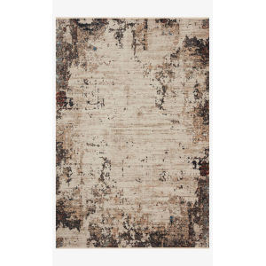 Leigh Ivory and Charcoal Rectangle: 5 Ft. 3 In. x 7 Ft. 6 In. Rug