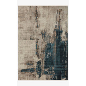 Leigh Slate and Denim Rectangle: 5 Ft. 3 In. x 7 Ft. 6 In. Rug