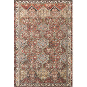 Loren Spice and Multicolor 5 Ft. x 7 Ft. 6 In. Power Loomed Rug