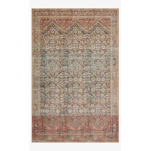Loren Charcoal and Multicolor Rectangle: 5 Ft. x 7 Ft. 6 In. Rug