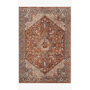 Lourdes Rust and Multicolor Runner: 2 Ft. 7 In. x 10 Ft.