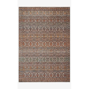 Lourdes Stone and Multicolor Rectangle: 5 Ft. 3 In. x 7 Ft. 9 In. Rug