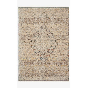 Lourdes Ivory and Multicolor Rectangle: 5 Ft. 3 In. x 7 Ft. 9 In. Rug