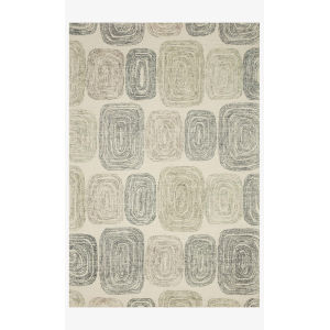 Milo Dark Gray and Neutral Rectangle: 7 Ft. 9 In. x 9 Ft. 9 In. Rug