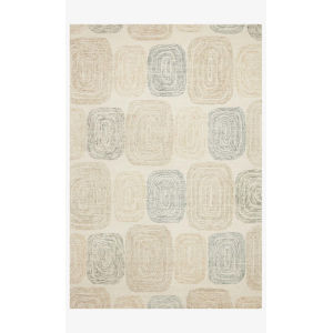 Milo Teal and Neutral Rectangle: 7 Ft. 9 In. x 9 Ft. 9 In. Rug