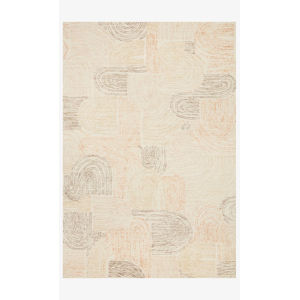 Milo Peach and Pebble Rectangle: 3 Ft. 6 In. x 5 Ft. 6 In. Rug
