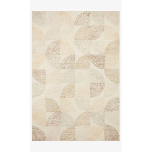 Milo Pebble and Multicolor Rectangle: 3 Ft. 6 In. x 5 Ft. 6 In. Rug