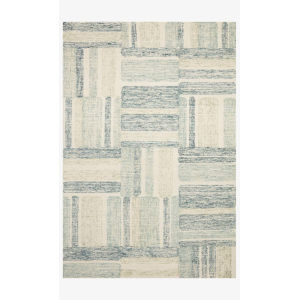 Milo Aqua and Denim Rectangle: 7 Ft. 9 In. x 9 Ft. 9 In. Rug