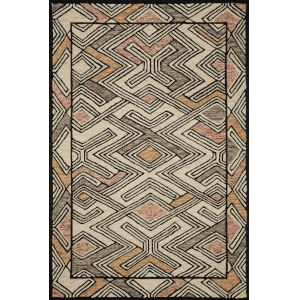 Nala Ivory Multicolor Rectangular: 7 Ft. 9 In. x 9 Ft. 9 In. Rug