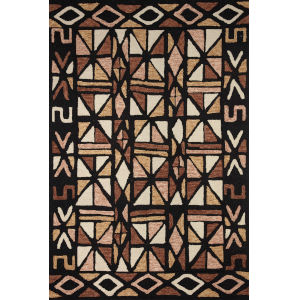 Nala Spice Black Rectangular: 3 Ft. 6 In. x 5 Ft. 6 In. Rug