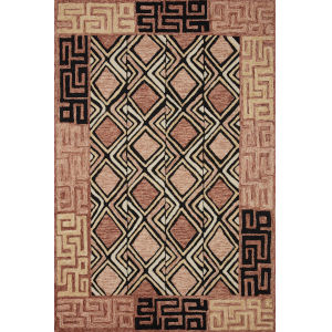 Nala Rose Black Rectangular: 7 Ft. 9 In. x 9 Ft. 9 In. Rug