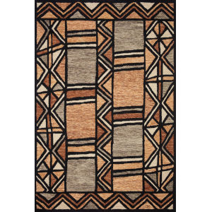 Nala Walnut Multicolor Rectangular: 5 Ft. x 7 Ft. 6 In. Rug