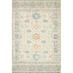 Norabel Ivory Multicolor Square: 1 Ft. 6 In. x 1 Ft. 6 In. Rug