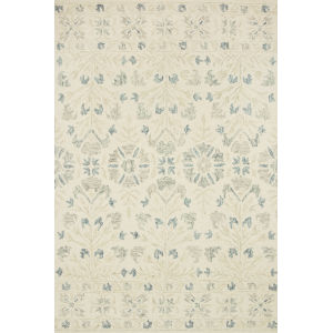 Norabel Ivory Gray Rectangular: 7 Ft. 9 In. x 9 Ft. 9 In. Rug