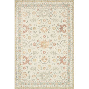 Norabel Ivory Rust Rectangular: 3 Ft. 6 In. x 5 Ft. 6 In. Rug