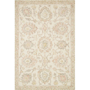 Norabel Ivory Blush Rectangular: 7 Ft. 9 In. x 9 Ft. 9 In. Rug