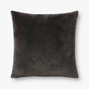 Charcoal Grey 22 In. x 22 In. Throw Pillow Cover