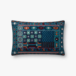Blue Multicolor 13 In. x 21 In. Throw Pillow Cover