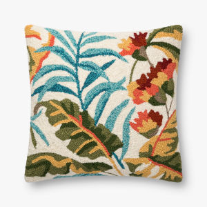 Multicolor Polypropylene and Polyester 22 In. x 22 In. Throw Pillow Cover