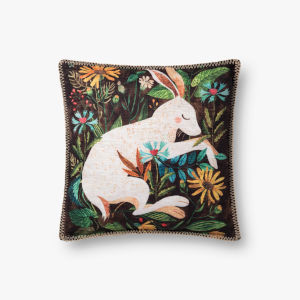 Multicolor Polyester 18 In. x 18 In. Throw Pillow Cover